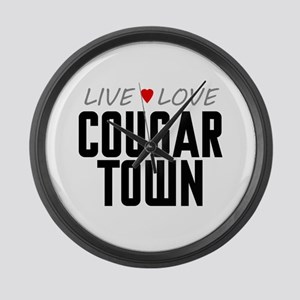 Live Love Cougar Town Large Wall Clock