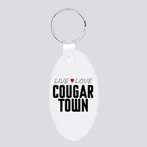 Live Love Cougar Town Aluminum Oval Keychain