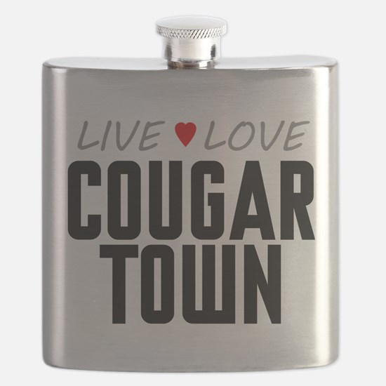 Live Love Cougar Town Flask