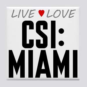 Live Love CSI: Miami Tile Coaster