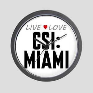 Live Love CSI: Miami Wall Clock