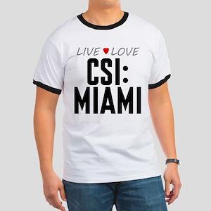 Live Love CSI: Miami Ringer T-Shirt