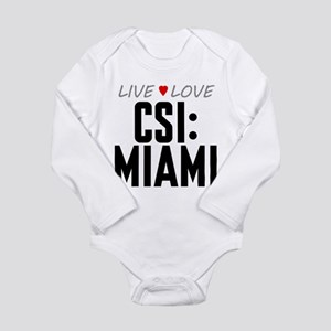 Live Love CSI: Miami Long Sleeve Infant Bodysuit