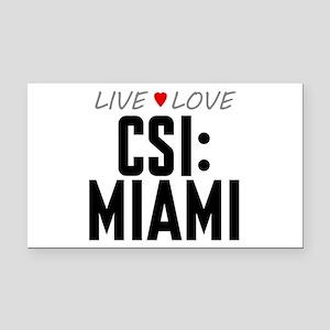 Live Love CSI: Miami Rectangle Car Magnet
