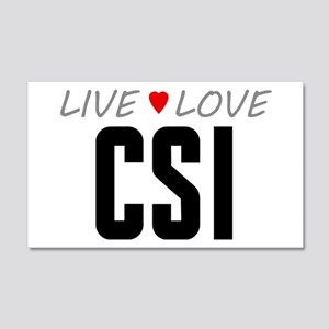 Live Love CSI 22x14 Wall Peel