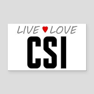 Live Love CSI Rectangle Car Magnet