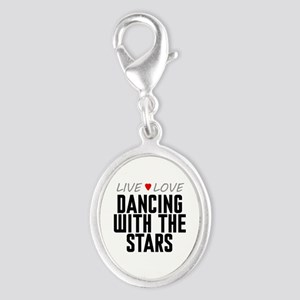 Live Love Dancing With the Stars Silver Oval Charm
