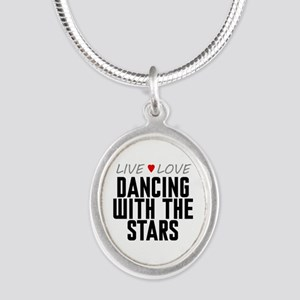 Live Love Dancing With the Stars Silver Oval Neckl