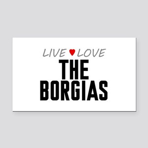 Live Love The Borgias Rectangle Car Magnet