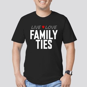 Live Love Family Ties Men's Dark Fitted T-Shirt