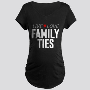 Live Love Family Ties Dark Maternity T-Shirt