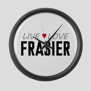 Live Love Frasier Large Wall Clock