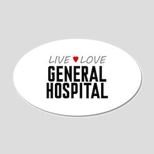 Live Love General Hospital 22x14 Oval Wall Peel