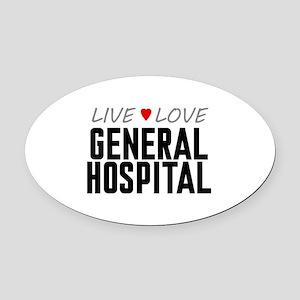 Live Love General Hospital Oval Car Magnet