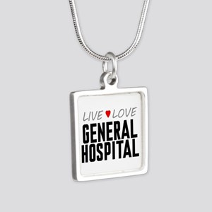 Live Love General Hospital Silver Square Necklace