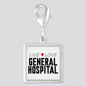 Live Love General Hospital Silver Square Charm