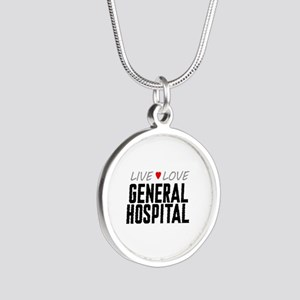 Live Love General Hospital Silver Round Necklace