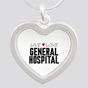 Live Love General Hospital Silver Heart Necklace