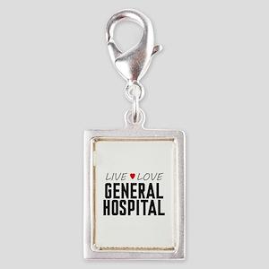 Live Love General Hospital Silver Portrait Charm