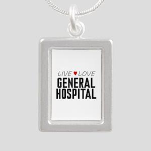 Live Love General Hospital Silver Portrait Necklac