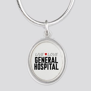 Live Love General Hospital Silver Oval Necklace