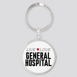 Live Love General Hospital Round Keychain