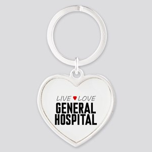 Live Love General Hospital Heart Keychain