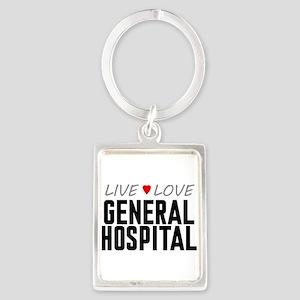 Live Love General Hospital Portrait Keychain