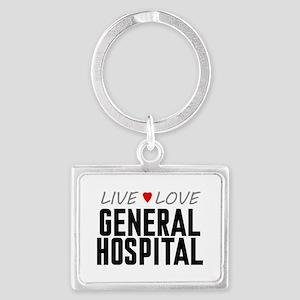 Live Love General Hospital Landscape Keychain