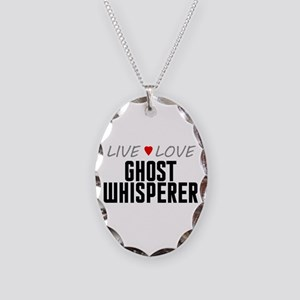 Live Love Ghost Whisperer Necklace Oval Charm
