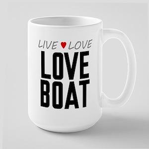 Live Love Love Boat Large Mug