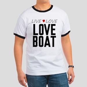 Live Love Love Boat Ringer T-Shirt