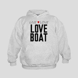 Live Love Love Boat Kid's Hoodie