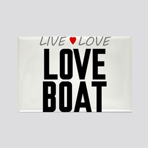 Live Love Love Boat Rectangle Magnet