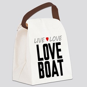 Live Love Love Boat Canvas Lunch Bag