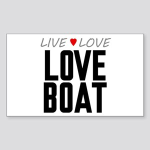 Live Love Love Boat Rectangle Sticker