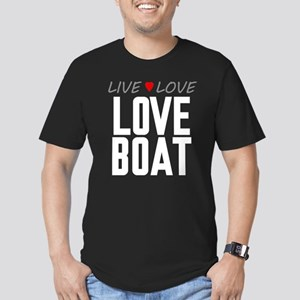 Live Love Love Boat Men's Dark Fitted T-Shirt