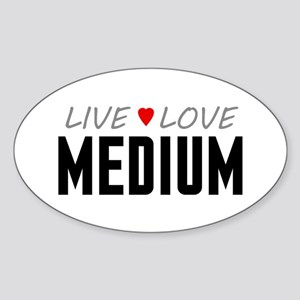 Live Love Medium Oval Sticker