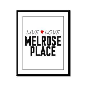 Live Love Melrose Place Framed Panel Print