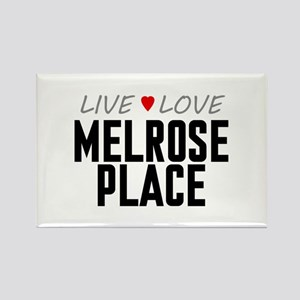 Live Love Melrose Place Rectangle Magnet