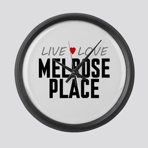Live Love Melrose Place Large Wall Clock