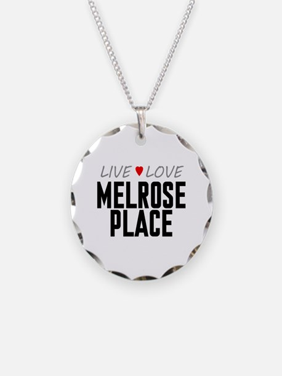 Live Love Melrose Place Necklace Circle Charm