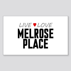 Live Love Melrose Place Rectangle Sticker