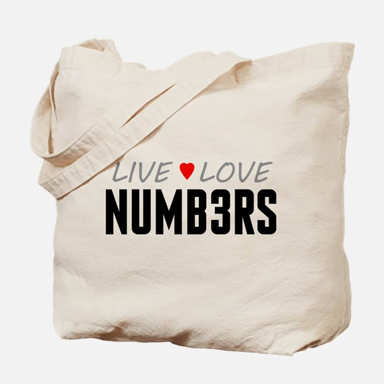 Live Love Numb3rs Tote Bag