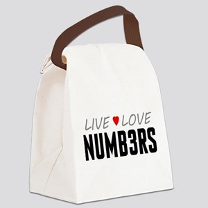 Live Love Numb3rs Canvas Lunch Bag