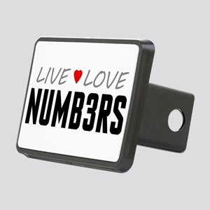 Live Love Numb3rs Rectangular Hitch Cover
