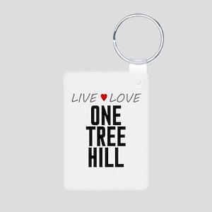 Live Love One Tree Hill Aluminum Photo Keychain