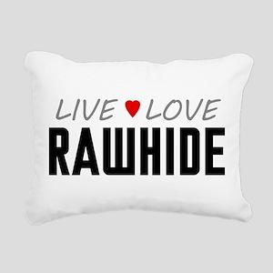 Live Love Rawhide Rectangular Canvas Pillow