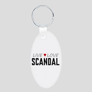 Live Love Scandal Aluminum Oval Keychain