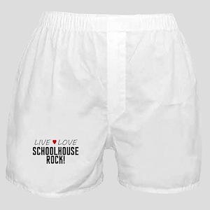 Live Love Schoolhouse Rock! Boxer Shorts